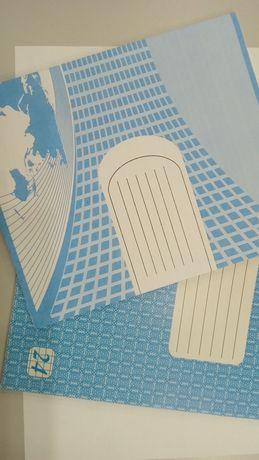Зошити зошит тетрадь 24 аркуші обкладинка фонова, лінія клітинка