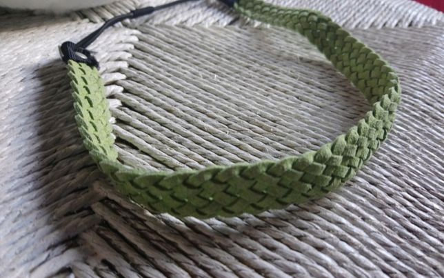 Headband trança verde