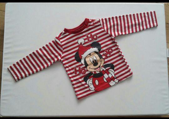Bluzeczka bluzka myszka miki koszulka c&a 68 święta mikołaj