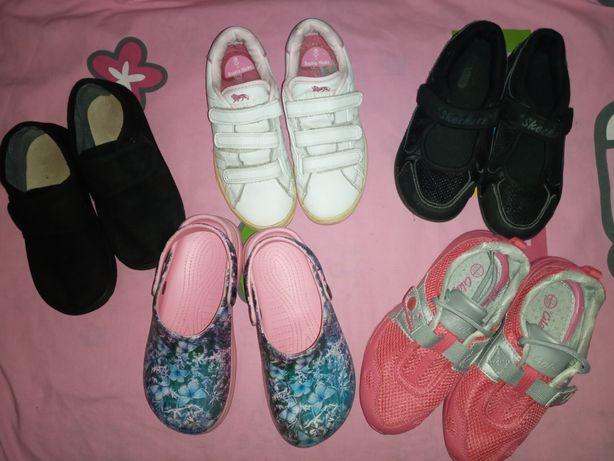 Skechers фирменные кроссовки мокасины тапочки р 30-33