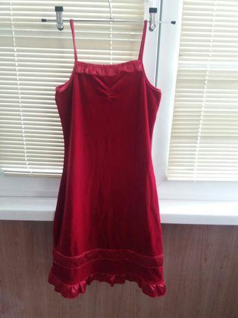 Платье для девочки 7 -8 лет красное