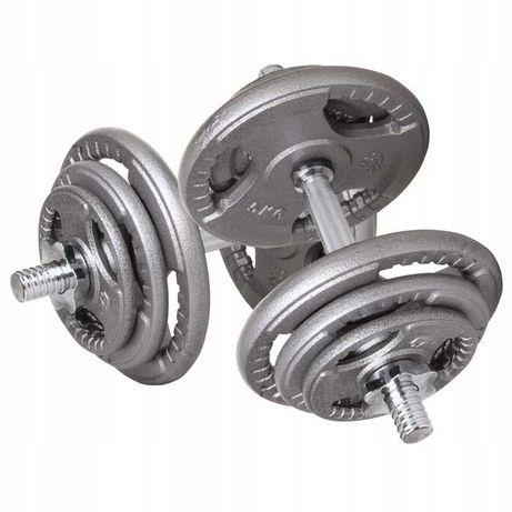 HANTLE ŻELIWNE 2X20KG 40KG zestaw fitness siłownia trening