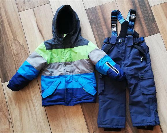 Kombinezon zimowy kurtka, spodnie narciarskie 98-110
