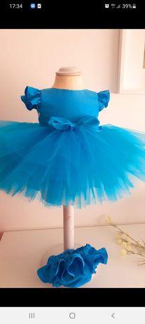 Vestido azul 2 anos