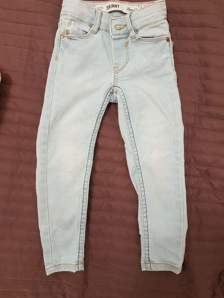 Rurki jeans jeansy skinny 2-3 lata 98 cm