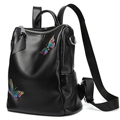 -60% Женский кожаный рюкзак Натуральная телячья кожа