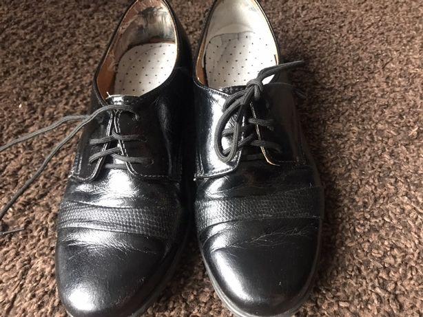 Eleganckie buty skórzane dla chłopca rozm 31