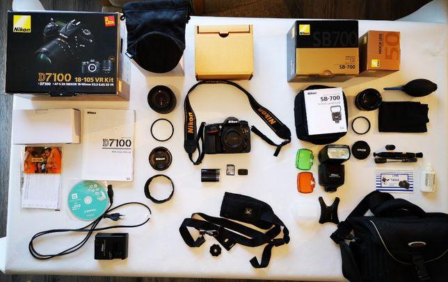 Nikon D7100 + akcesoria ( zestaw )
