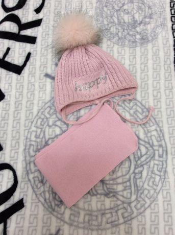 Шапочка і шарфик для дівчинки.