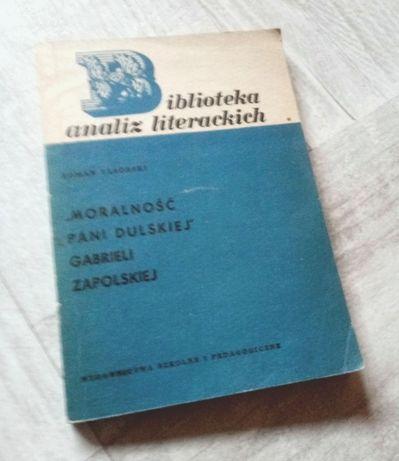 """Biblioteka analiz literackich """"Moralność Pani Dulskiej"""" Roman Taborski"""