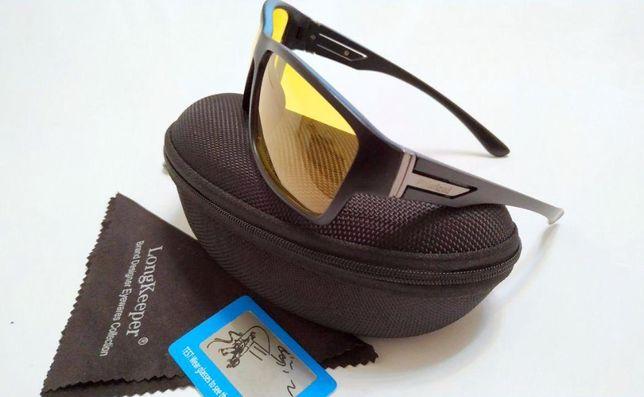 Очки поляризационные для водителя рыбака антифары антиблик чехол UV400