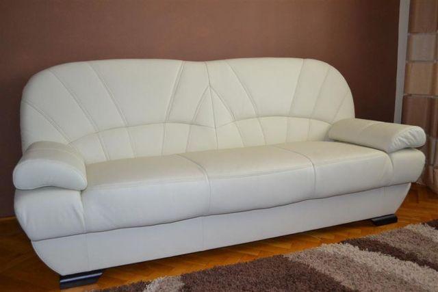 Wersalka kanapa sofa tapczan PORTO funkcja rozkładana prawdziwa skóra