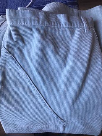 Spódnica sztruks roz 44/46 pastelowy niebieski