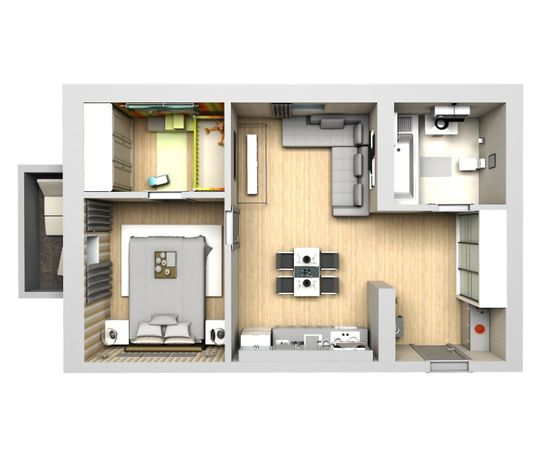 Продам уютную 2х комнатную квартиру. S=46м2