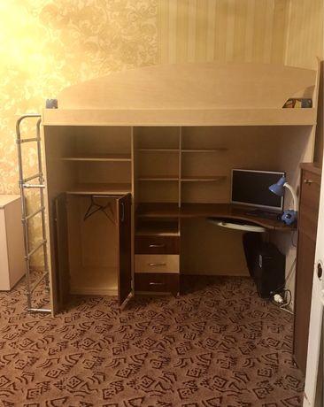 Кровать + стол+ шкаф
