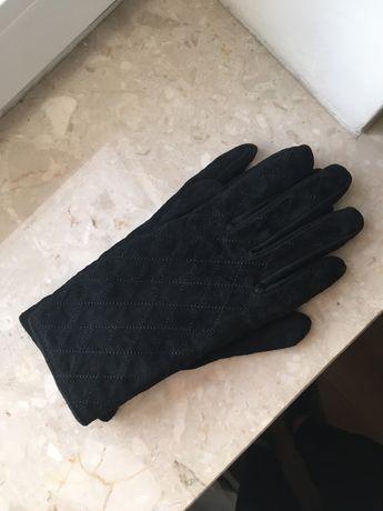 Medicine rękawiczki rękawice czarne kobiece ciepłe pikowane S/M