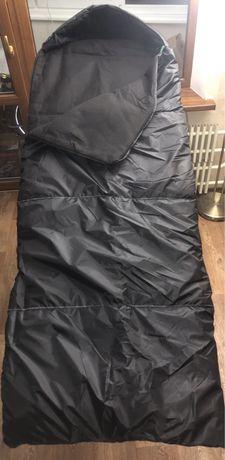 Спальник 80см широкий на флисе (одеяло с капюшоном)