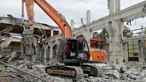 Демонтажные работы, уборка територии, демонтаж здания дома коттеджа