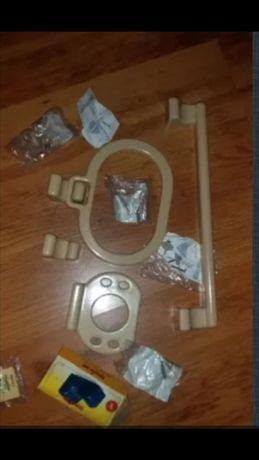 комплект держатели крючки для ванной комнаты