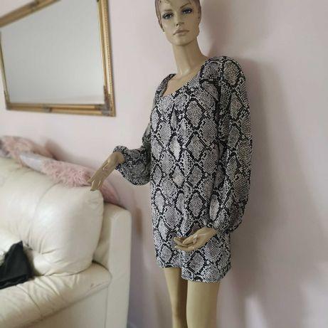 Sukienka tunika wężowa New Look s