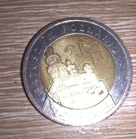 moneta kolekcjonerska 5 zł ratusz w Poznaniu