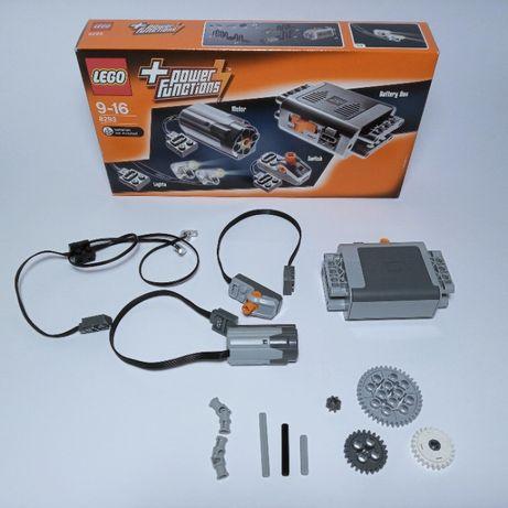 Lego 8293 Power Functions Technic Silnik dodatkowo duża zębatka i osie