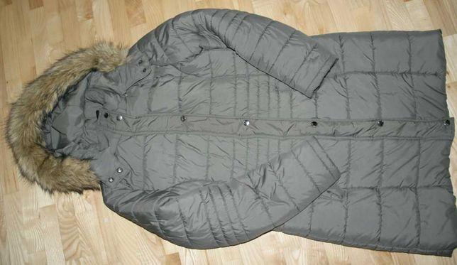40 Tchibo TCM płaszcz długa kurtka pikowana midi jesienno zimowa