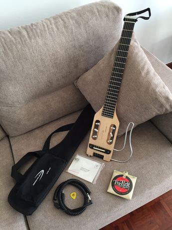 Guitarra Viagem Travel Guitar Ultra Light Nylon Natural+ Com Microfone
