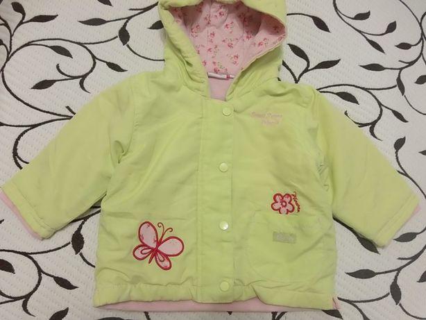 Курточка осенняя на девочку 6-9 месяцев, фирменная