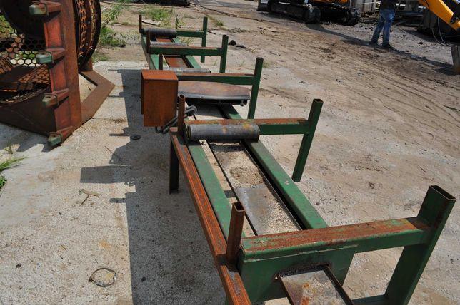 Stół rolkowy do piły taśmowej podajnik 4,38M