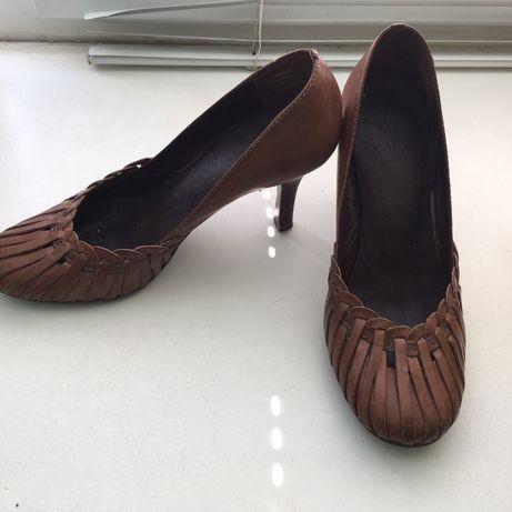 Туфли НАТУР. кожа, р.37, Бразилия. Оригинальные, стильные