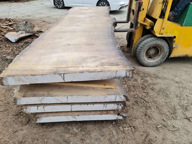 Blat drewniany dębowy na stół monolit live edge wood dąb dom salon