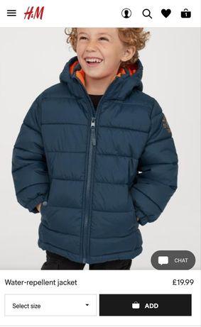 Куртка на мальчика HM 3-4 года
