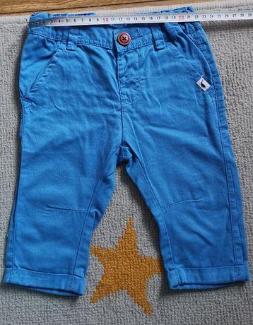 Niebieskie spodnie chinos cool club w rozmiarze 68