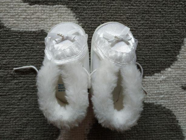 Buciki białe rozmiar 11 na chrzest