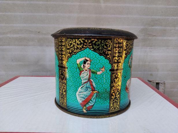 Жестяная банка коробка от индийского чая J.V.Gokal & Co СССР