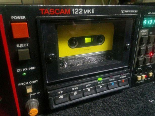 Tascam 122 mkII cassett deck studio tape możliwa zamiana za gramofony