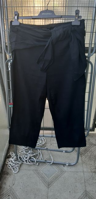 Spodnie lniane 3/4 Zara rozmiar S/M