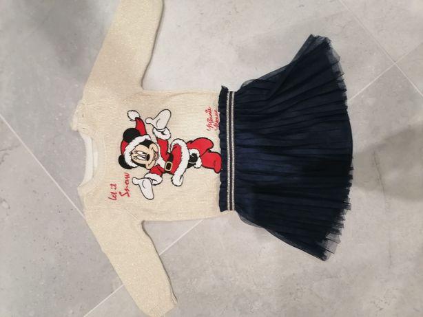 Komplet świąteczny sweterek i spódniczka C&A rozmiar 74