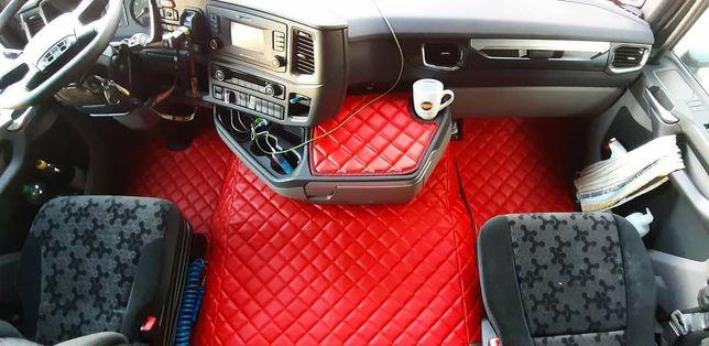 Dywaniki pikowane Scania NextGen R czerwone