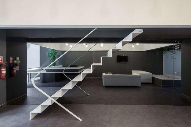 Schody nowoczesne loft industrialne spawanie Corten balustrady