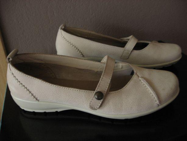 Damskie skórzane buty baleriny HOTTER SOFT jak nowe 38,5