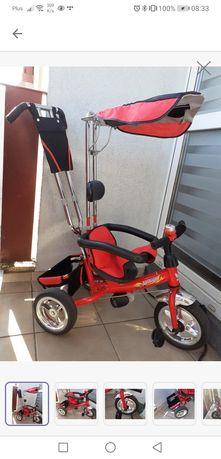 Rowerek trójkołowy z daszkiem pchacz wózek dziecięcy dla dziecka