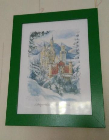 Картина замок Нойшванштайн, Германия