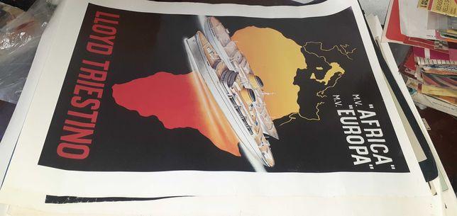 Lote de art deco posters facsimile dos anos 20/30 67x47 cmts.
