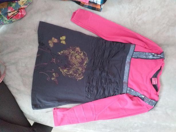 Bluzka tunika dziewczęca 2 rozmiary 152 cm oraz 140 cm