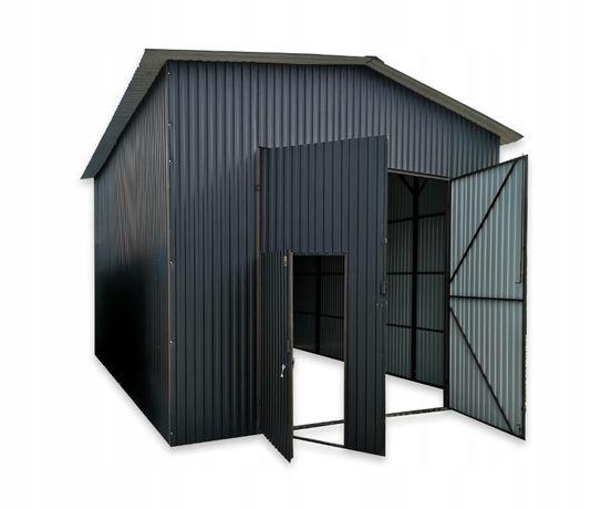 Garaż blaszany blaszak 5x7x4 hala wysoki dach dwyspadowy