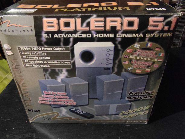 Głośniki komputerowe Media tech Bolero Platinum 5.1 model Mt-345