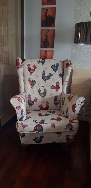 fotel uszak - piękny w koguty :)