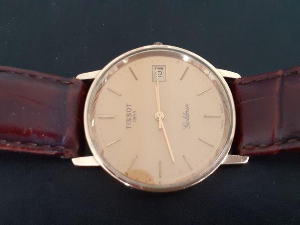 Złoty zegarek męski